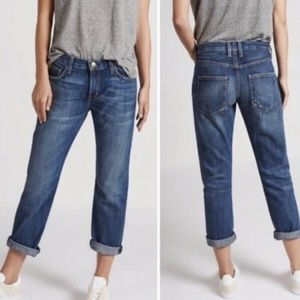 Current Elliott The Boyfriend Loved Cropped Jeans